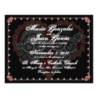 Día de las invitaciones muertas del boda invitación 10,8 x 13,9 cm