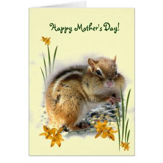 Día de las madres del Chipmunk Tarjeta