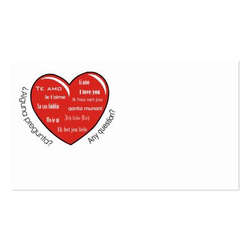 dia de las madres heart business card