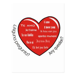 dia de las madres heart postcard