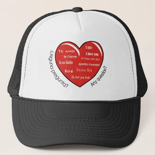 dia de las madres heart trucker hat