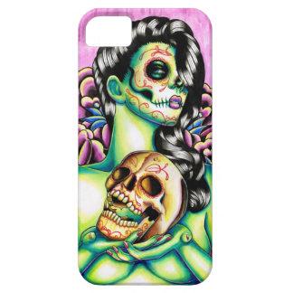 Día de las memorias del chica muerto del cráneo iPhone 5 carcasa