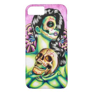 Día de las memorias del chica muerto del cráneo funda iPhone 7