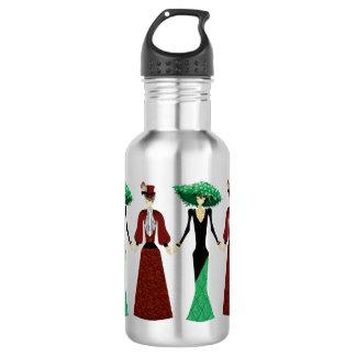 Día de las muñecas esqueléticas muertas botella de agua de acero inoxidable