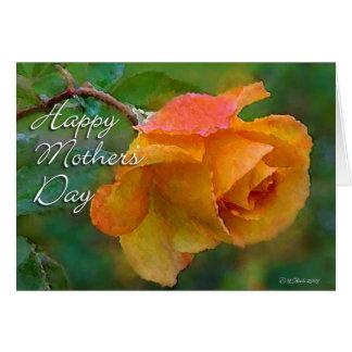 Día de las Rosa-Madres del naranja Tarjeta De Felicitación