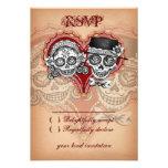 Día de las tarjetas muertas de RSVP del cráneo del Invitaciones Personalizada