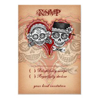 Día de las tarjetas muertas de RSVP del cráneo del Invitación 8,9 X 12,7 Cm