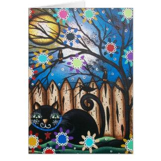 Día de Lorri Everett_ del gato muerto, negro, mexi Tarjeta De Felicitación