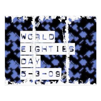 día de los años ochenta del mundo postales