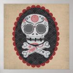 Día de los calaveras muertos de Skull Día de los M Póster