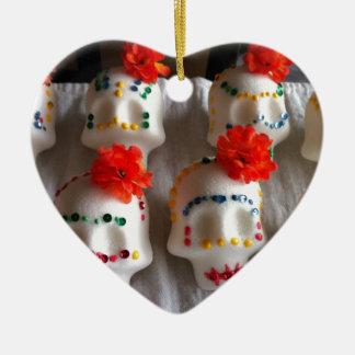 Día de los cráneos muertos del azúcar ornamentos de navidad