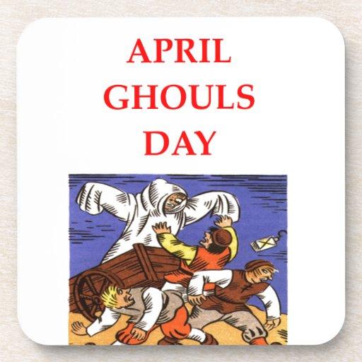 día de los espíritus necrófagos de abril posavasos de bebida