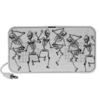 Día de los esqueletos del baile del baile muerto portátil altavoz