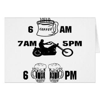 Día de los motoristas; Café, montar a caballo y ce Felicitacion