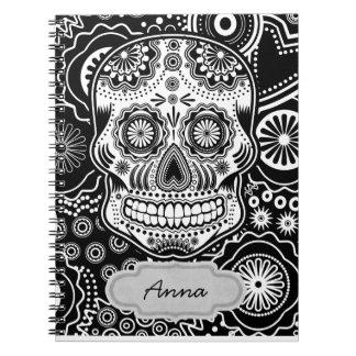 dia de los muertes spiral notebook