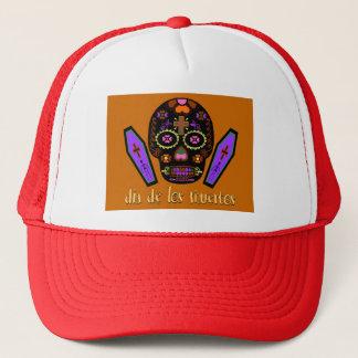 Dia De Los Muertes - Orange Trucker Hat