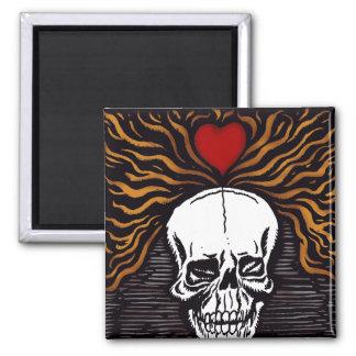 Día de los Muertos 2 Inch Square Magnet
