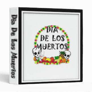 Dia De Los Muertos 3 Ring Binders