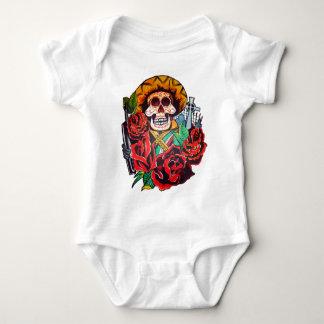 dia de los muertos baby bodysuit