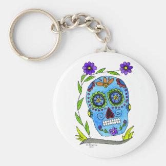 Día de los Muertos Basic Round Button Keychain