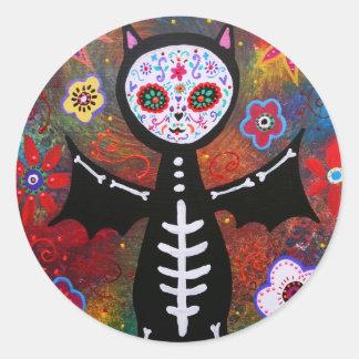 Dia de los Muertos Bat by Prisarts Stickers