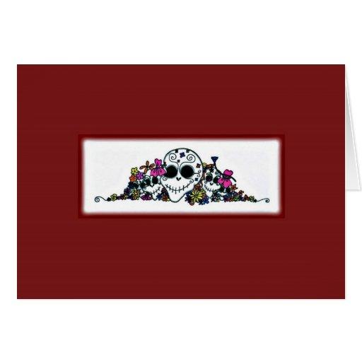 """""""Dia de Los Muertos"""" blank notecard/Halloween card"""