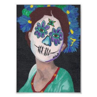Dia De Los Muertos Blue Lady Photograph