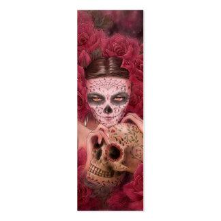 Dia de los Muertos Bookmark Mini Business Card