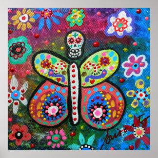 Dia de los Muertos Butterfly Poster