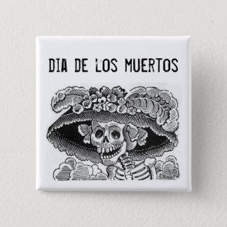 Dia de los muertos Button