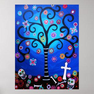 Dia de los Muertos by Prisarts Poster