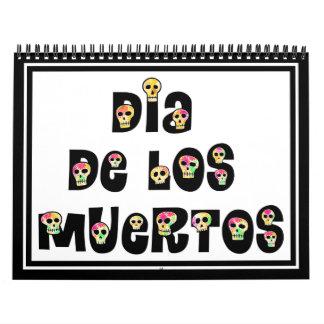 Dia De Los Muertos Calaveras Calendario