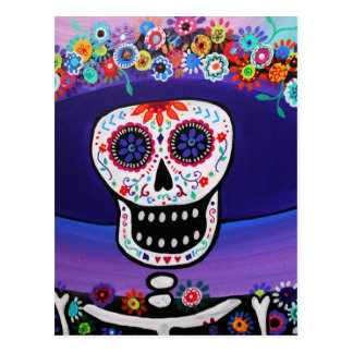 Dia de los Muertos Catrina by Prisarts Post Cards
