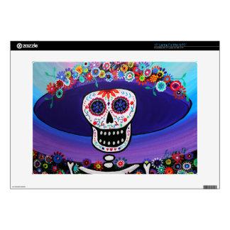 """Dia de los Muertos Catrina by Prisarts Skin For 15"""" Laptop"""