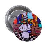 Dia de los Muertos Chef Pin Redondo 5 Cm