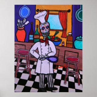 Dia de los Muertos Chef Poster