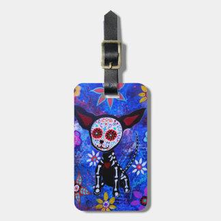 Dia de los Muertos Chihuahua Etiquetas Para Maletas