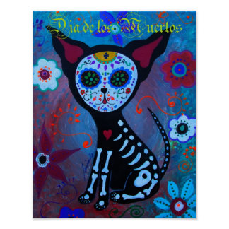 Dia de los Muertos Chihuahua Poster