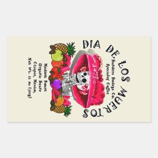 Dia De Los Muertos  Coffee (Special Request) Rectangle Stickers