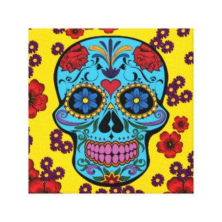 Día de los muertos con las flores impresión en lienzo