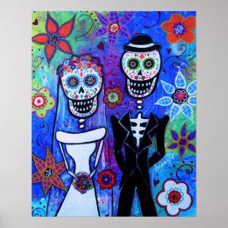 DIA DE LOS MUERTOS COUPLE WEDDING POSTER