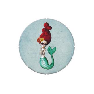 Dia de Los Muertos Cute y sirena hermosa Frascos De Caramelos