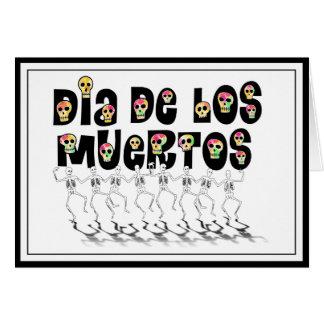 Dia De Los Muertos - Dancing Skeletons Card