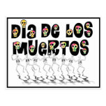 Dia De Los Muertos - Dancing Skeletons Postcard