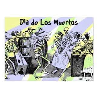"""Dia de Los Muertos Day de las invitaciones muertas Invitación 4.5"""" X 6.25"""""""
