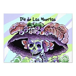 Dia de Los Muertos Day de las invitaciones muertas Invitación 12,7 X 17,8 Cm