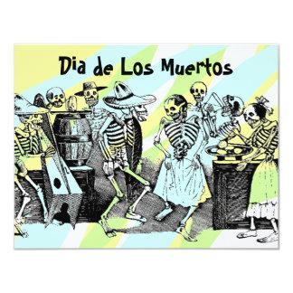 """Dia de Los Muertos Day de las invitaciones muertas Invitación 4.25"""" X 5.5"""""""