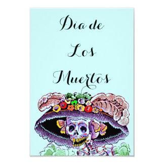 Dia de Los Muertos Day del Catrina muerto invita Invitación 8,9 X 12,7 Cm