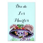 """Dia de Los Muertos Day del Catrina muerto invita Invitación 3.5"""" X 5"""""""