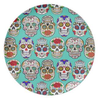 Dia de los Muertos (Day of the Dead) Dinner Plate